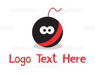 Explode - Bomb Cartoon Mascot logo design