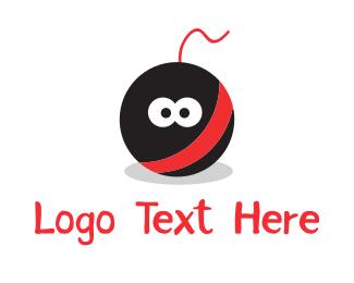 Explosive - Bomb Cartoon Mascot logo design