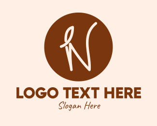 Cappucino - Coffee Leaf Letter N logo design