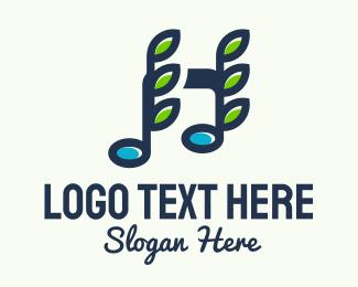 Music Lounge - Vine Music Note logo design