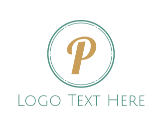 Stamp - Gold P Emblem logo design