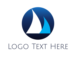 Shark - Yacht & Sailing Boat logo design