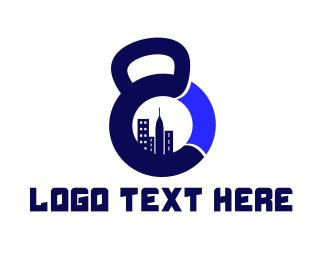 Weight - City Gym logo design