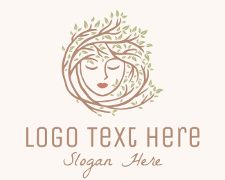 Skincare - Woman Tree Hair logo design