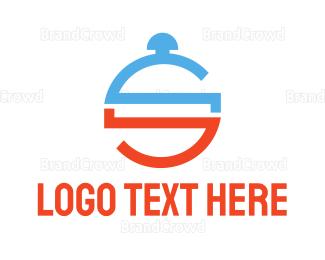 Cloche - Modern Catering S logo design