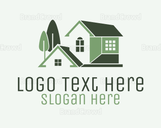 Mansion - Green Mansion House logo design