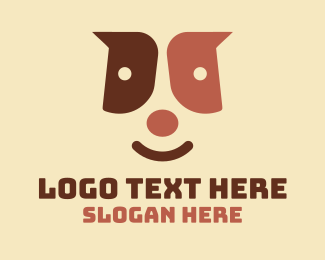 Puppy - Cute Puppy Face  logo design