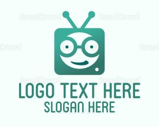 Nerd - TV Geek logo design