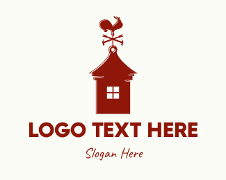 Home Renovation - Red Weathercock logo design