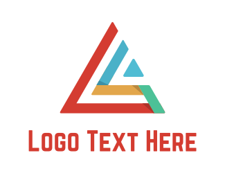 Generic - Colorful Triangle logo design