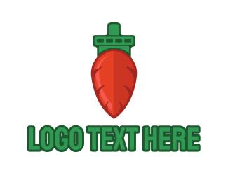Oceanic - Carrot Ship logo design
