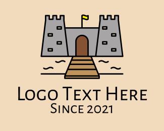 Fortress - Castle Fortress Gateway logo design