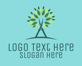 Scissors - Tree Scissors logo design