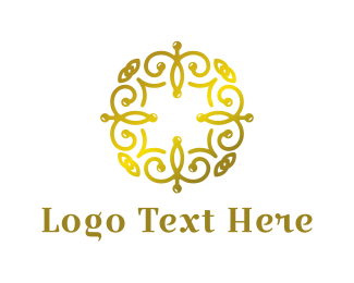 Antiquarian - Golden Spa logo design