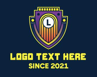 Events Space - Retro Emblem Letter logo design