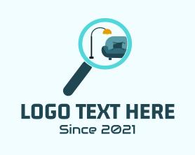 Interior - Home Interior Search logo design