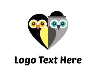 Beak - Cute Owls logo design