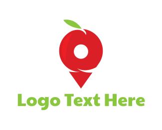 Flavor - Pin Apple  logo design