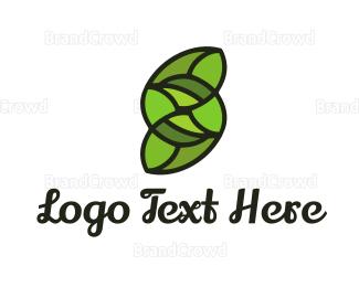 Biological - Green Letter S logo design