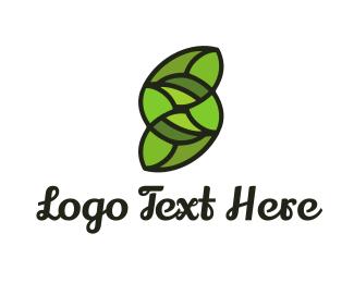 Lettering - Green Letter S logo design