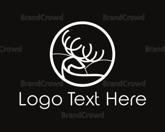 Alaska - Minimalist Deer Circle logo design