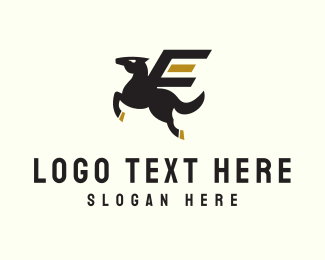 Gas Station - Pegasus Horse logo design