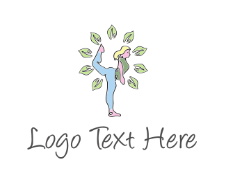 Retreat - Yoga Girl logo design