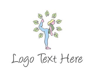 Exercise - Yoga Girl logo design