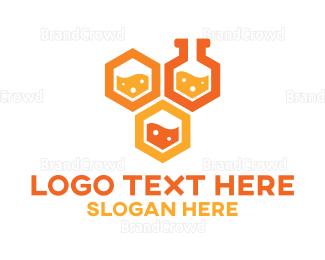 Beaker - Honeycomb Labs logo design