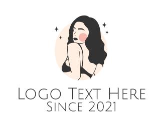 Model - Sexy Underwear Model logo design
