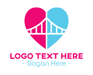 Sf - Love Bridge  logo design