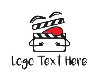 Clapperboard - Comedy Film logo design