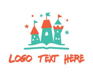 Fairy Tale - Book Castle logo design