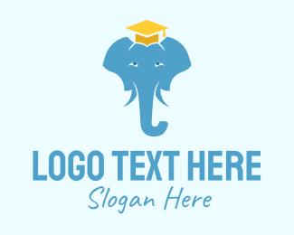 Graduation Hat - Academic Elephant  logo design