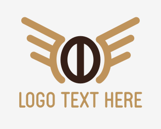 Coffee - Wing Coffee Bean logo design