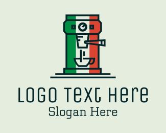 Machine - Italian Coffee Machine logo design