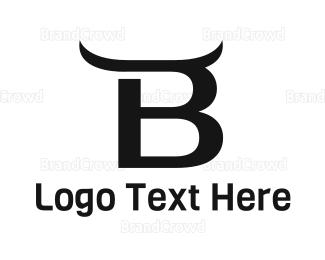 Toro - Black Bull B logo design