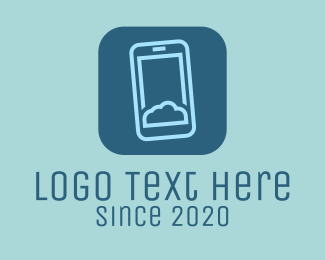 Cloud Storage - Phone Cloud Storage logo design