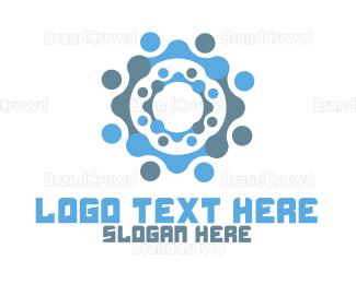 Aqua - Bubble Rings logo design
