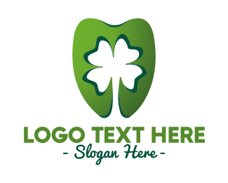 Luck - Green Cloverleaf Dentistry logo design