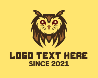 Gaming Mascot - Owl Bird Gaming Character logo design