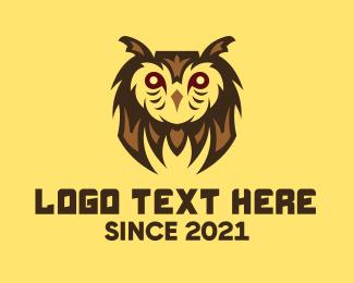 Cod - Owl Bird Gaming Character logo design