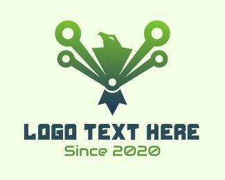 Green Tech Eagle  Logo