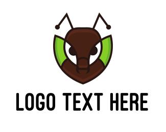 Pest - Ant Leaf logo design