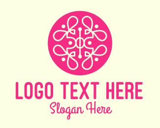 Collage - Pink Fancy Pattern logo design