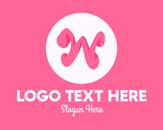 Letter W - Pink Letter W logo design