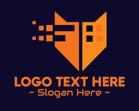 Jackal - Orange Fox Digital Pixels logo design