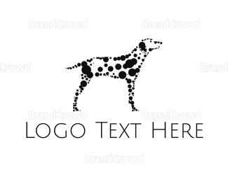 Dog Walking - Dalmatian Dots logo design