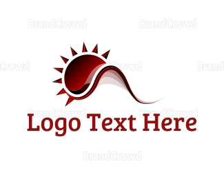 Red And Black - Red Sun logo design