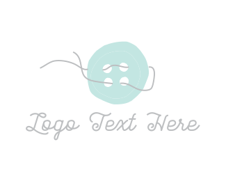 Seamstress - Thread & Button logo design